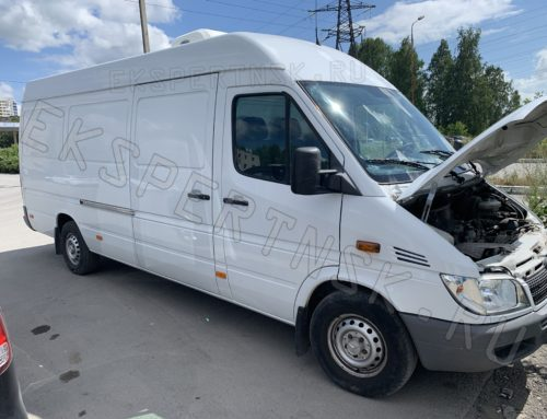 Оформление переоборудования в изотермический фургон, установки рефрижератора и установки фаркопа на Mercedes-Benz Sprinter